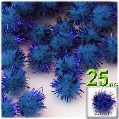 Pom Pom, 25mm-, 25-pc, Royal Blue