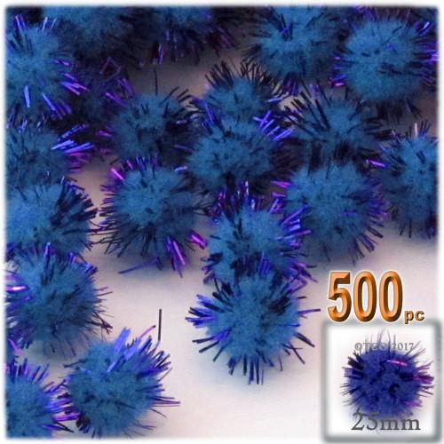 Pom Pom, 25mm-, 500-pc, Royal Blue
