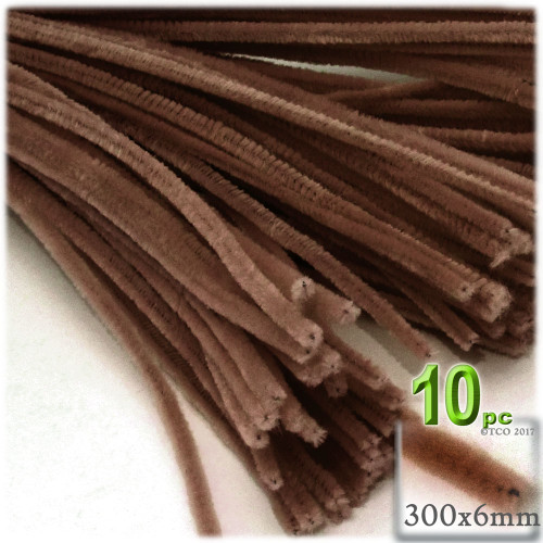 Stems, Polyester, 12-in, 10-pc, Coffee