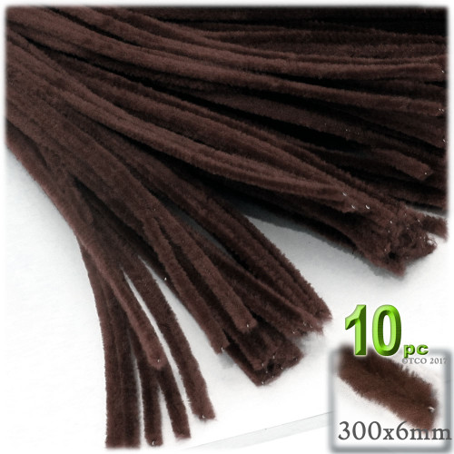 Stems, Polyester, 12-in, 10-pc, Dark Brown