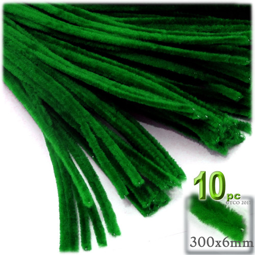Stems, Polyester, 12-in, 10-pc, Emerald Green