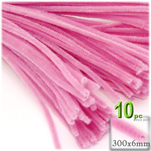 Stems, Polyester, 12-in, 10-pc, Hot Pink