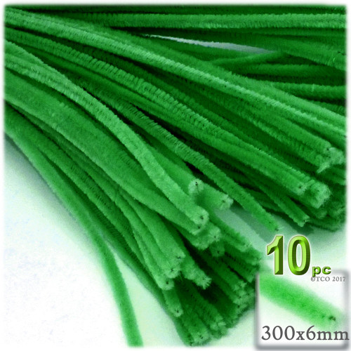 Stems, Polyester, 12-in, 10-pc, Light Green