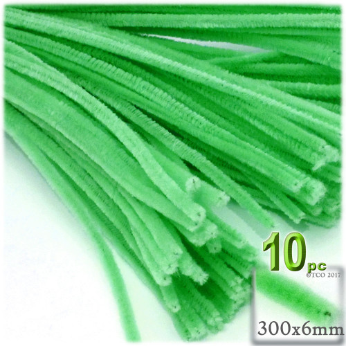 Stems, Polyester, 12-in, 10-pc, Lime Green