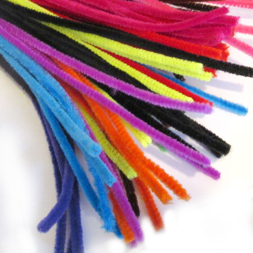Stems, Polyester, 12-in, 10-pc, Bright Mix