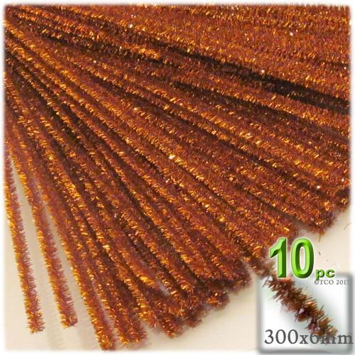 Stems, Sparkly, 12-in, 10-pc, Copper