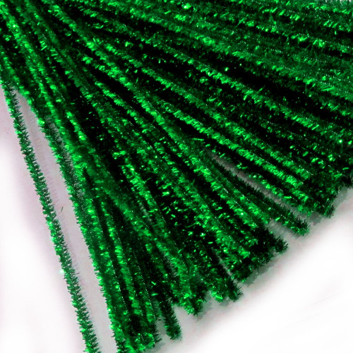 Stems, Sparkly, 12-in, 10-pc, Emerald Green
