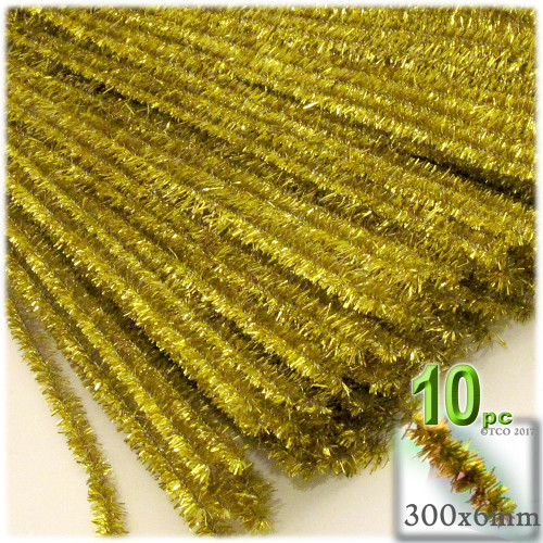 Stems, Sparkly, 12-in, 10-pc, Light Gold