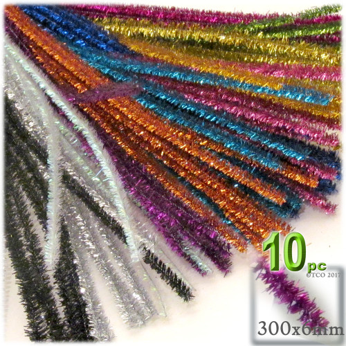 Stems, Sparkly, 12-in, 10-pc, Mixed Pack