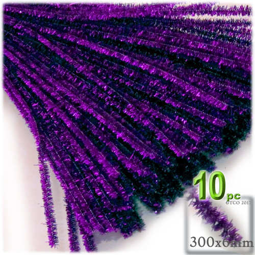 Stems, Sparkly, 12-in, 10-pc, Purple