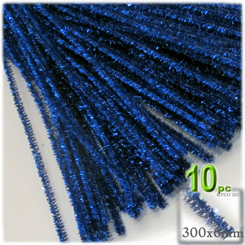 Stems, Sparkly, 12-in, 10-pc, Royal Blue