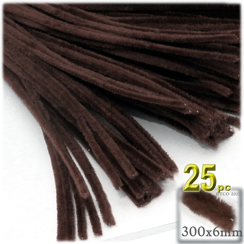 Stems, Polyester, 12-in, 25-pc, Dark Brown