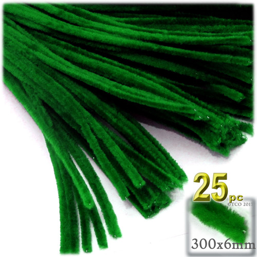Stems, Polyester, 12-in, 25-pc, Emerald Green