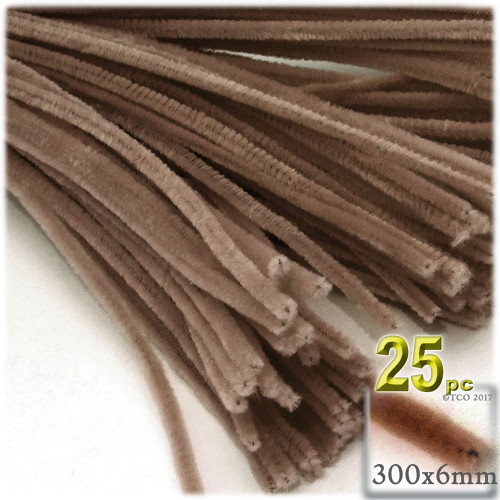 Stems, Polyester, 12-in, 25-pc, Light Brown