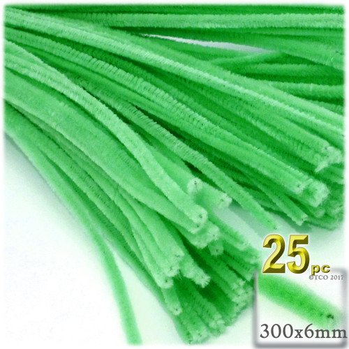 Stems, Polyester, 12-in, 25-pc, Lime Green