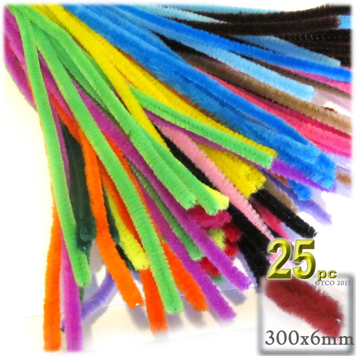 Stems, Polyester, 12-in, 25-pc, Mixed Pack