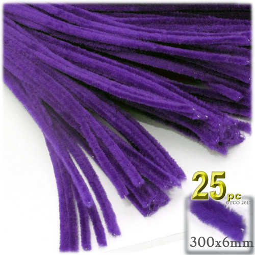 Stems, Polyester, 12-in, 25-pc, Purple