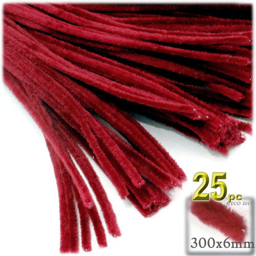Stems, Polyester, 12-in, 25-pc, Red