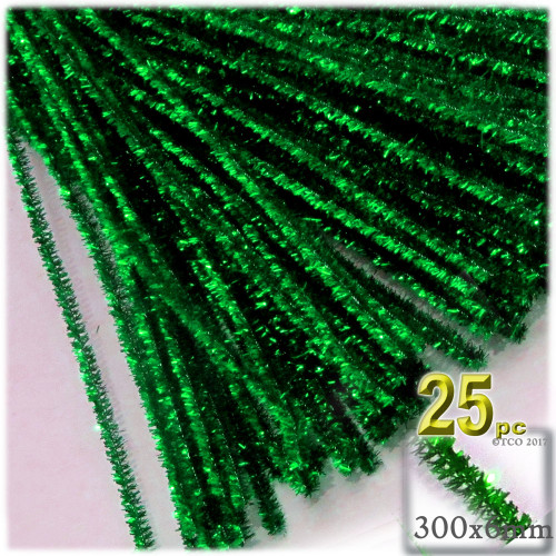 Stems, Sparkly, 12-in, 25-pc, Emerald Green