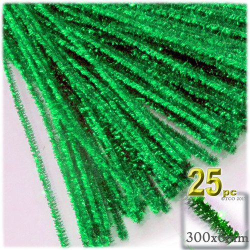Stems, Sparkly, 12-in, 25-pc, Light Green