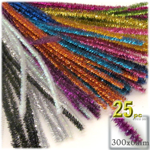 Stems, Sparkly, 12-in, 25-pc, Mixed Pack