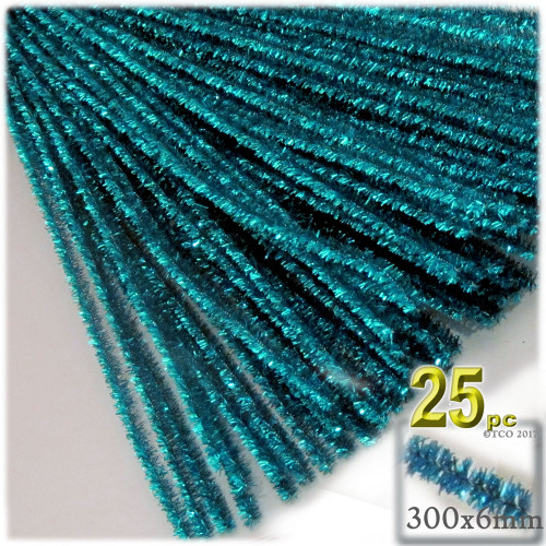 Stems, Sparkly, 12-in, 25-pc, Ocean Blue