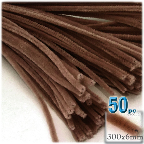 Stems, Polyester, 12-in, 50-pc, Coffee