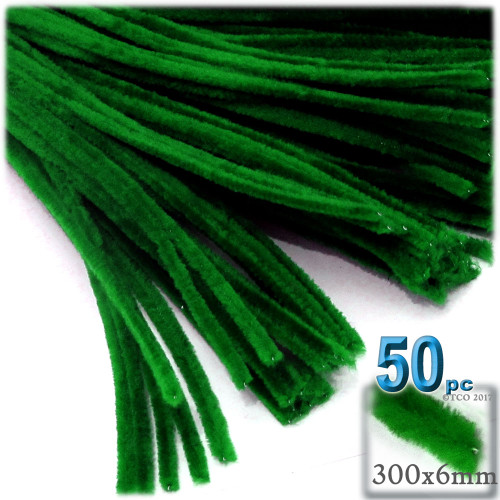 Stems, Polyester, 12-in, 50-pc, Emerald Green