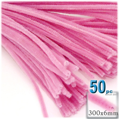 Stems, Polyester, 12-in, 50-pc, Hot Pink
