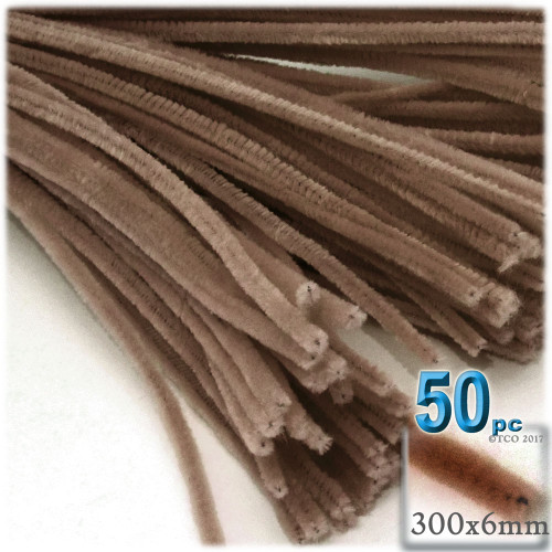 Stems, Polyester, 12-in, 50-pc, Light Brown