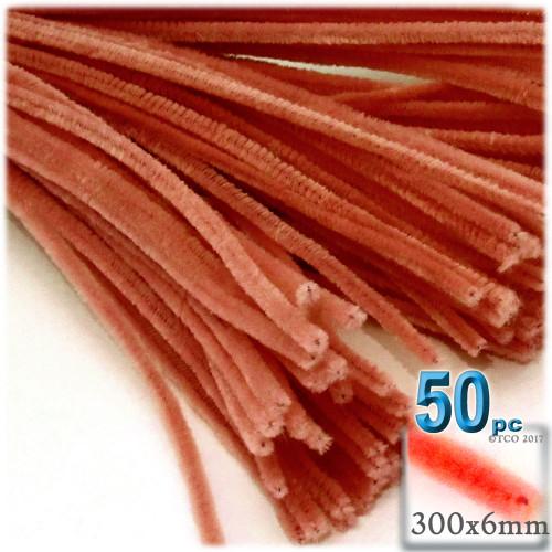 Stems, Polyester, 12-in, 50-pc, Orange