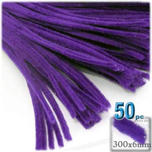 Stems, Polyester, 12-in, 50-pc, Purple