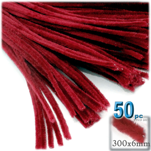 Stems, Polyester, 12-in, 50-pc, Red
