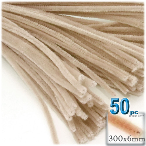 Stems, Polyester, 12-in, 50-pc, Tan