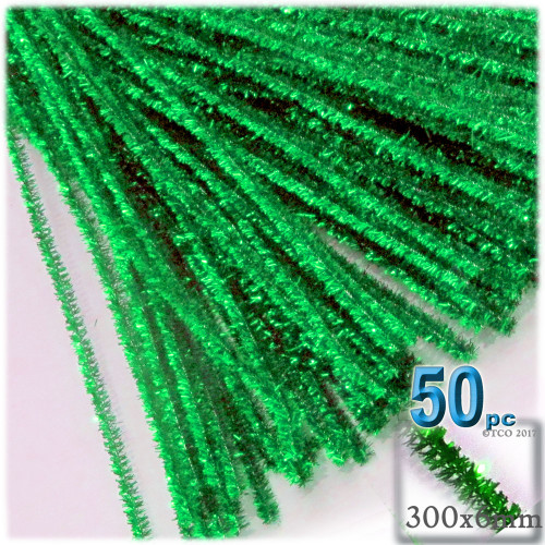 Stems, Sparkly, 12-in, 50-pc, Light Green