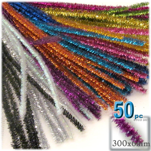 Stems, Sparkly, 12-in, 50-pc, Mixed Pack