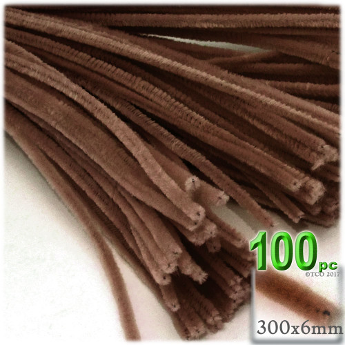 Stems, Polyester, 12-in, 100-pc, Coffee