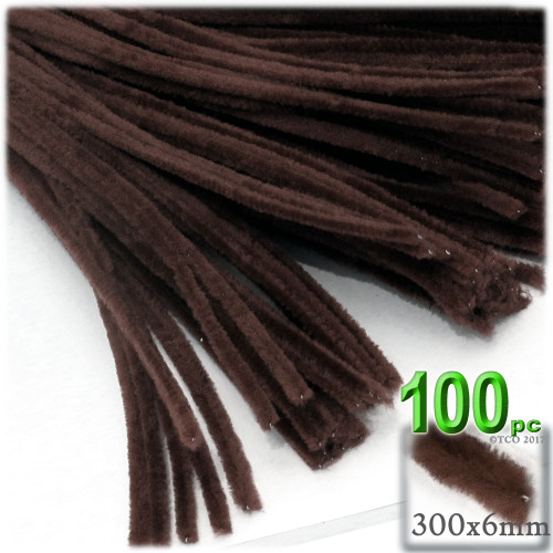 Stems, Polyester, 12-in, 100-pc, Dark Brown