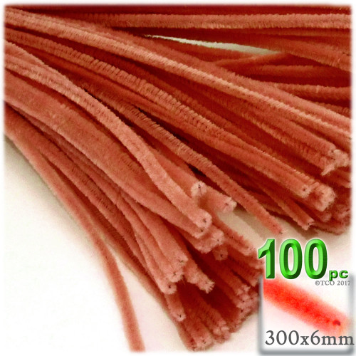 Stems, Polyester, 12-in, 100-pc, Orange