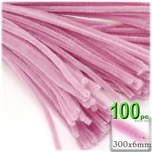 Stems, Polyester, 12-in, 100-pc, Pink