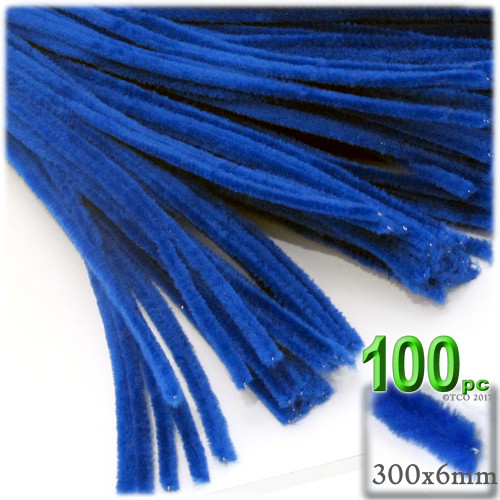 Stems, Polyester, 12-in, 100-pc, Royal Blue