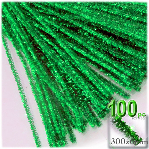 Stems, Sparkly, 12-in, 100-pc, Light Green