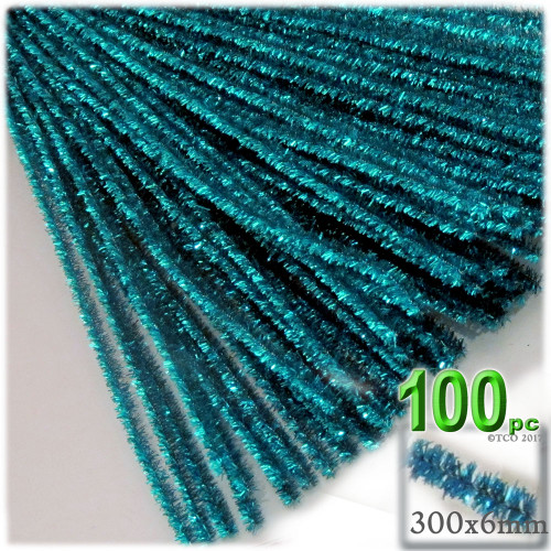 Stems, Sparkly, 12-in, 100-pc, Ocean Blue