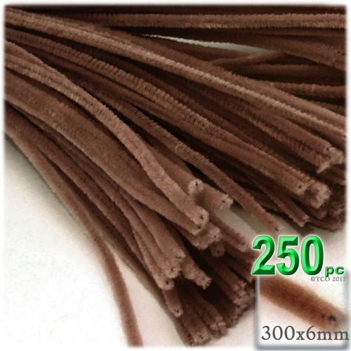 Stems, Polyester, 12-in, 250-pc, Coffee