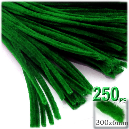 Stems, Polyester, 12-in, 250-pc, Emerald Green