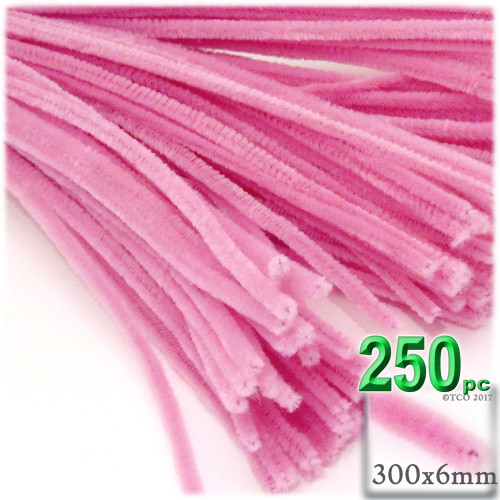 Stems, Polyester, 12-in, 250-pc, Hot Pink