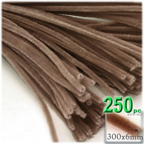 Stems, Polyester, 12-in, 250-pc, Light Brown