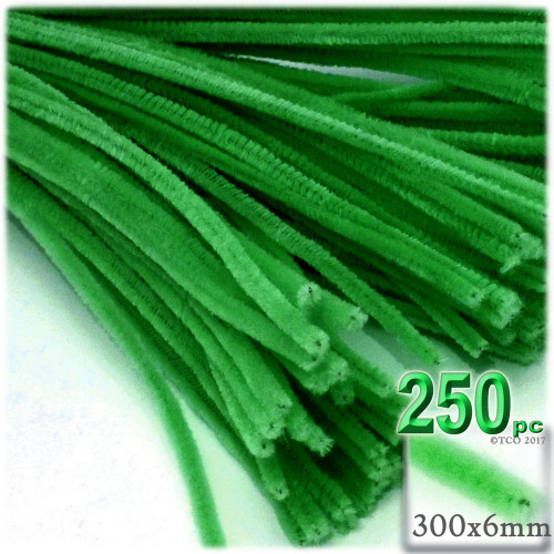 Stems, Polyester, 12-in, 250-pc, Light Green