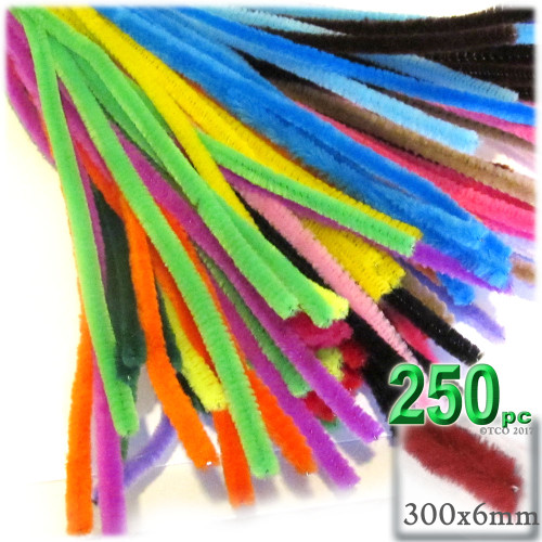 Stems, Polyester, 12-in, 250-pc, Mixed Pack