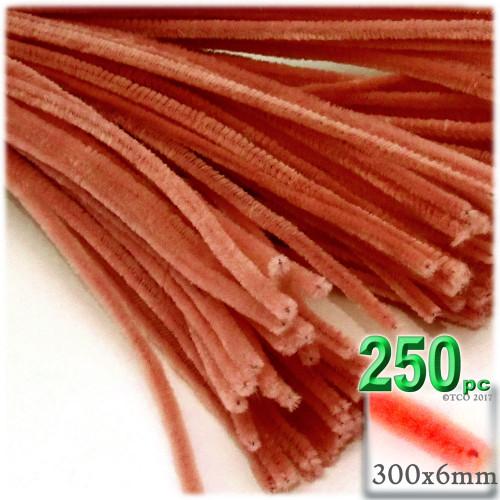 Stems, Polyester, 12-in, 250-pc, Orange